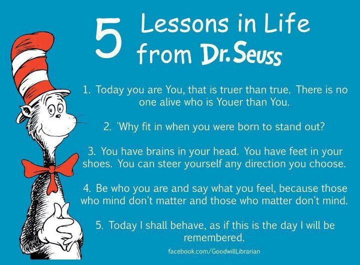 5 Lessons In Life From Dr. Seuss Dr. Seuss