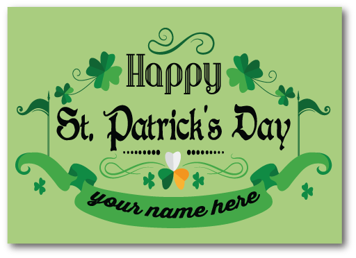 Amazing Happy St. Patrick's Day Wishes Greetings Card