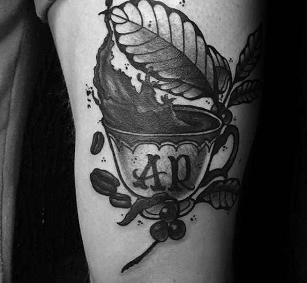 Best Ever Coffee Cup Tattoo On Arm for for Girl