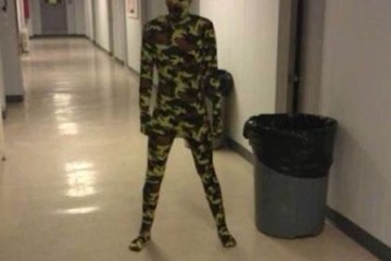 Camouflage Memes of an empty hallway