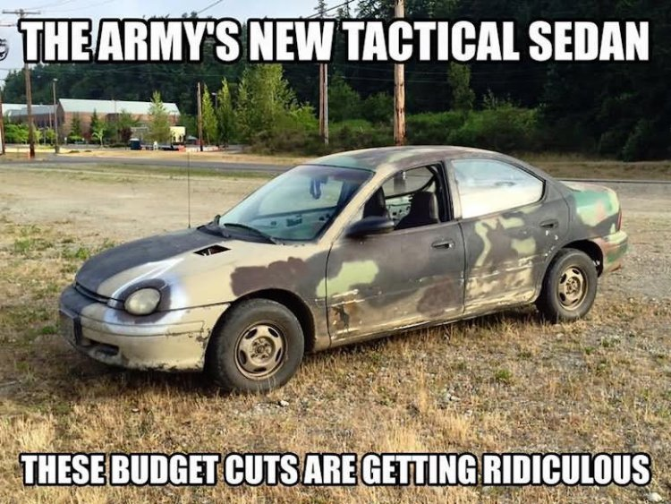 Camouflage Memes The army s new tactical sedan these
