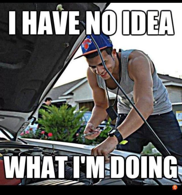 Car Meme I have no idea what I'm doing