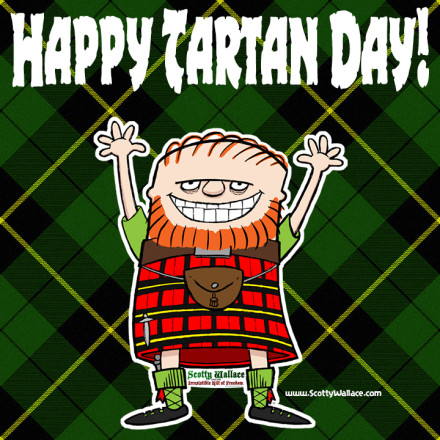 Celebrate Happy Tartan Day Greetings Image