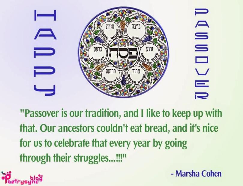 Celebrate Passover Wishes Quotes Marsha Cohen