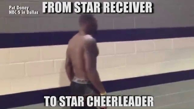 Cheerleading Meme from star receiver to star cheerleader