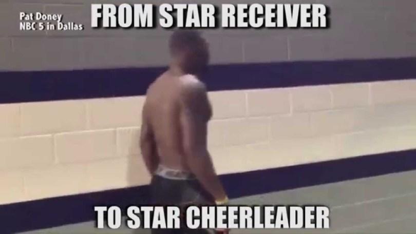 Cheerleading Meme from star receiver to star cheerleader