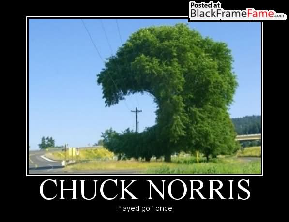 Chuck Norris played golf once Golf Memes