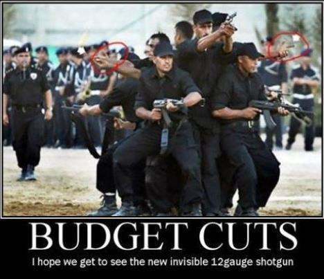 Cops Meme Budget cuts i hope we get see the new invisible