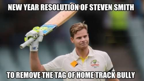 Cricket Meme new year resolution of steven smith to