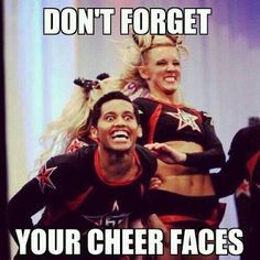 Don't forget your cheer facts Cheerleading Meme