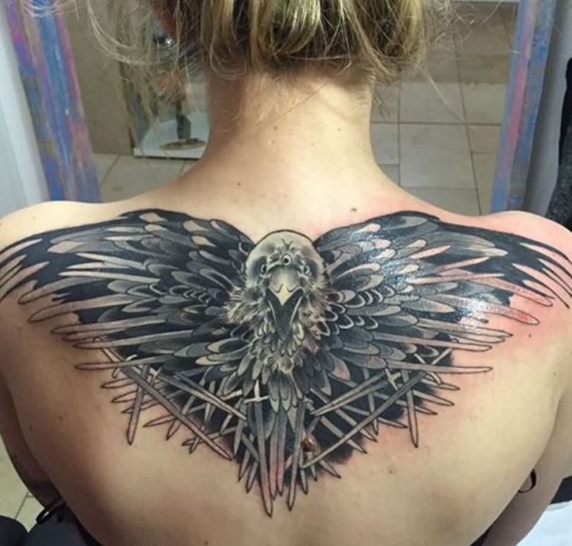 Elegant Game Of Thrones Tattoo For Girl's back