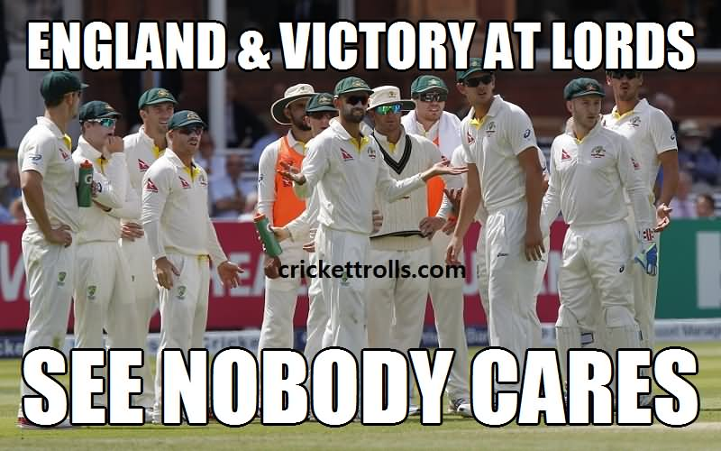 England victory at lords see nobody cares Cricket Memes