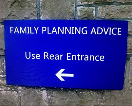 Family planning advice use rear entrance Family Memes