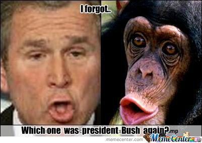 George Bush Meme I forgot which one was president