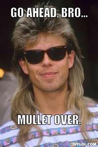 Go ahead bro mullet over Mullet Memes