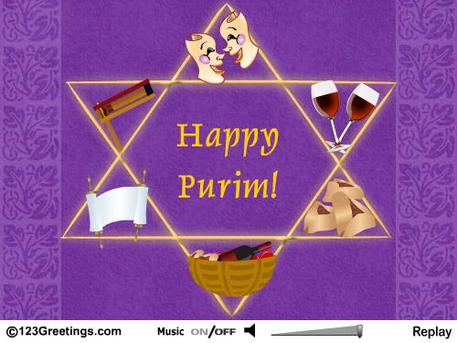 Happy Purim Greetings Image