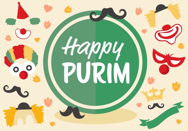 Happy Purim Wishes Greetings Image