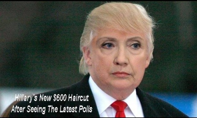 Hillary Clinton Meme Hillary's new 600 haircut after seeing