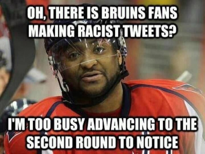 Hockey Meme Oh there is bruins fans making racist tweets