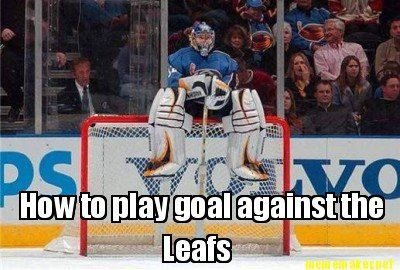 Hockey Memes How to play goal against the leafs