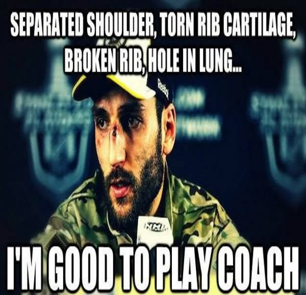 Hockey Memes Separated shoulder torn rib
