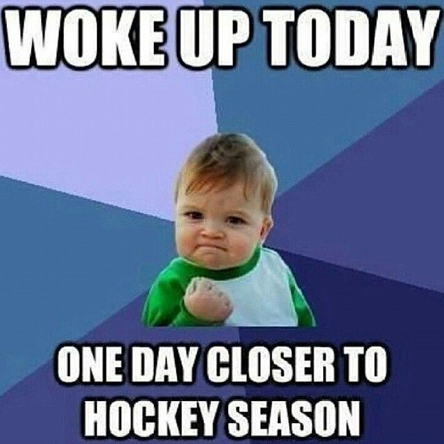 Hockey Memes Woke up today one day closer to hockey