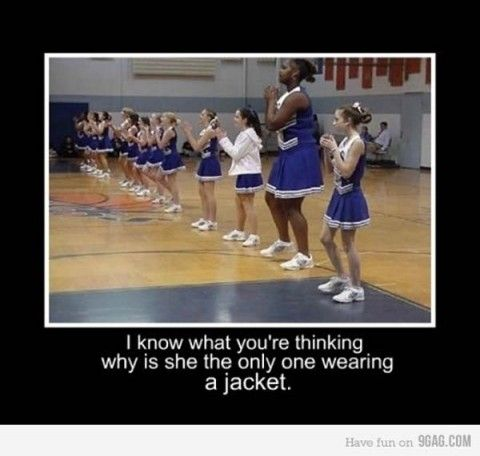 I know what you're thinking why is she the only one Cheerleading Meme