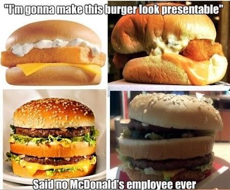 Im gonna make this burger look presentable Food Meme