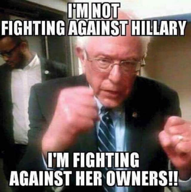 I'm not fighting against hillary am fighting against Hillary Clinton Meme