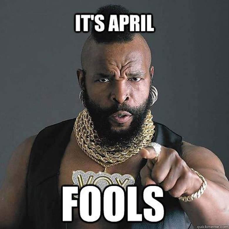 Its april fools Facebook Meme