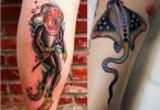 Marvelous Diver Tattoo On leg for womens