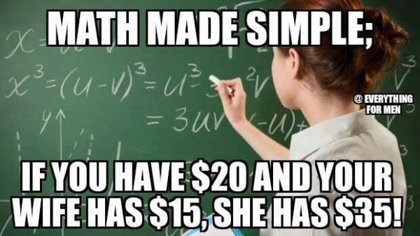 Math Meme Math made simple if you have 20