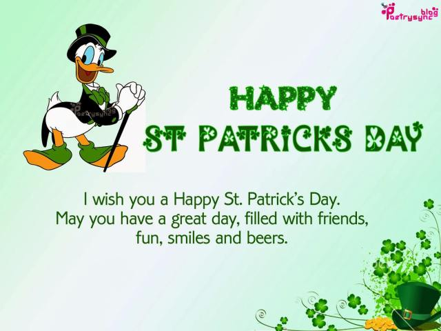 May You Have A Great Day St. Patrick's Day Wishes Message