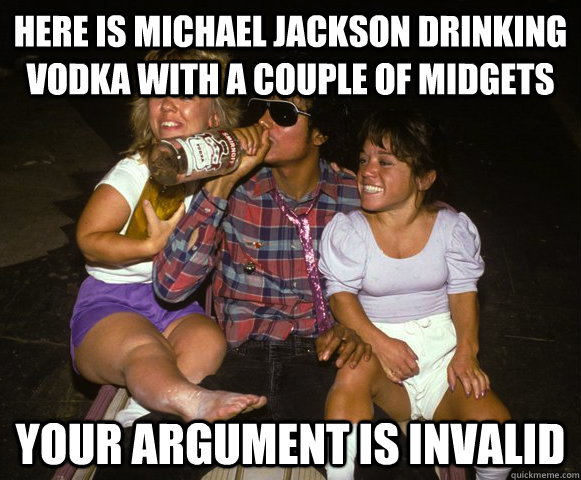 Michael Jackson Meme here is Michael Jackson drinking vodka with a