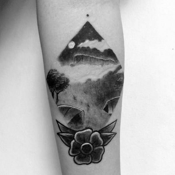 Mind blowing Camping Tattoos On arm for Girls