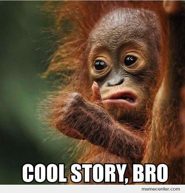 Monkey Memes Cool story bro