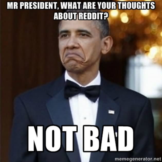 Mr president what are your thoughts about reddit Obama Meme