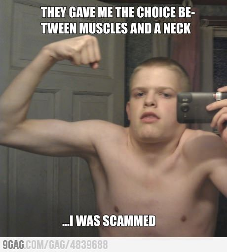 Muscle Meme They gave me the choice be tween muscles and a neck