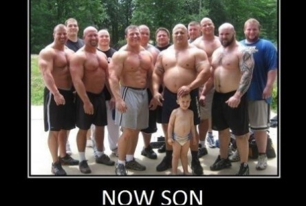 Now son Muscle Meme