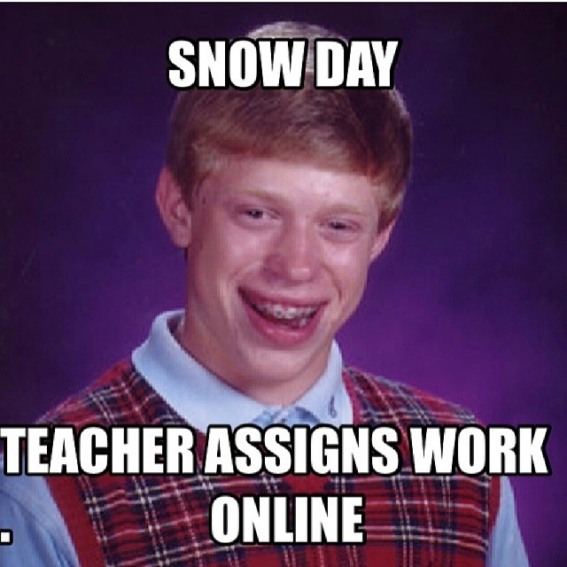 Online Meme Show day teacher assigns work online