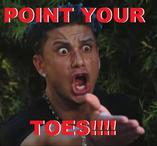 Point your toes Cheerleading Meme