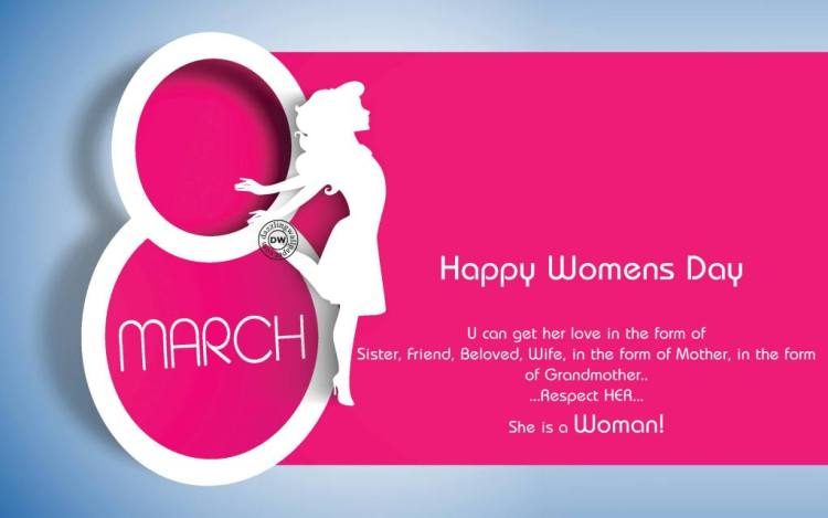 Respect Her Happy International Women's Day Wishes Quotes Image