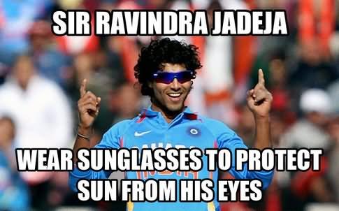 Sir ravindra jadeja wear sunglasses Cricket Meme