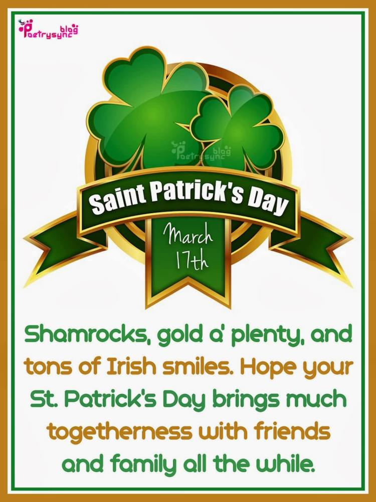 St. Patrick's Day March 17th Best Wishes