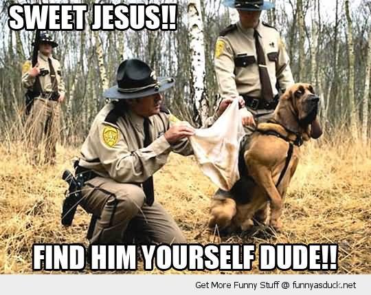 Sweet jesus find him yourself dude Cops Meme