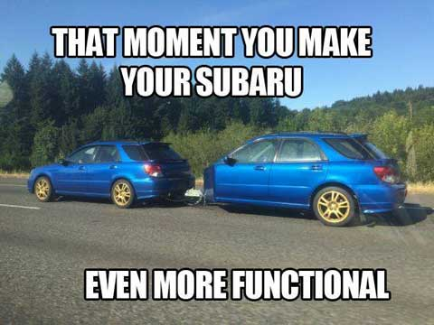 That moment you make your subard even more Car Meme