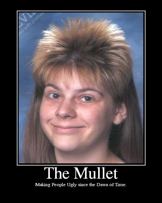 The mullet making people ugly since Mullet Memes