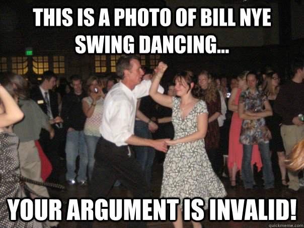 This is a photo of will Nye swing dancing Dance Meme
