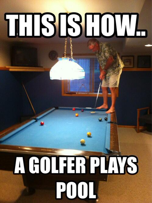 This is how a golfer plays Golf Meme