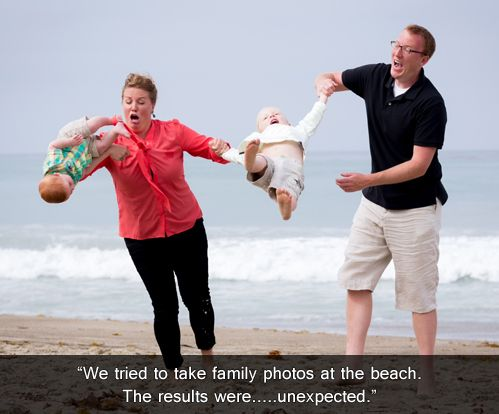 We tried to take family photo At the beach the result were Family Memes